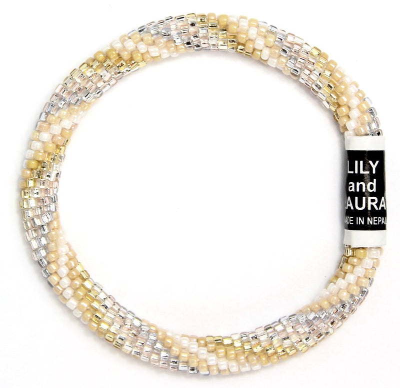 Elegant Light Neutral Spiral Bracelet