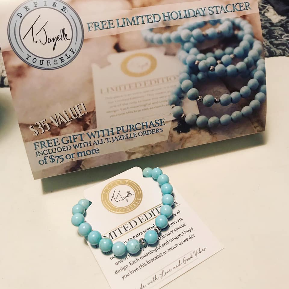 Light Blue Magnesite Holiday 2020 Stacker Bracelet