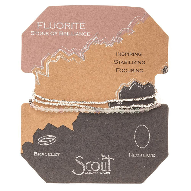 Scout Curated Wears Fluorite Stone of Brilliance Delicate Wrap