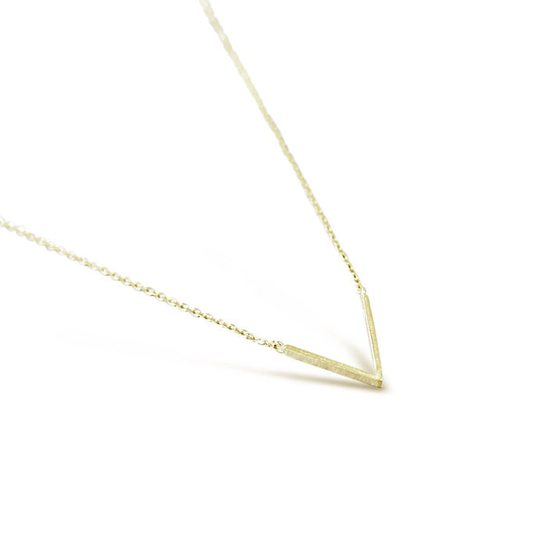 Gold Polished V Necklace