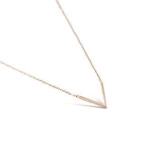 Rose Gold Polished V Necklace