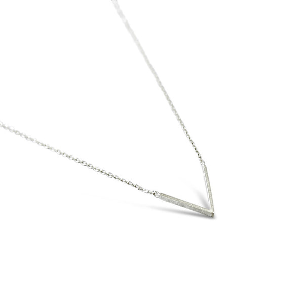 Sterling Silver Polished V Necklace