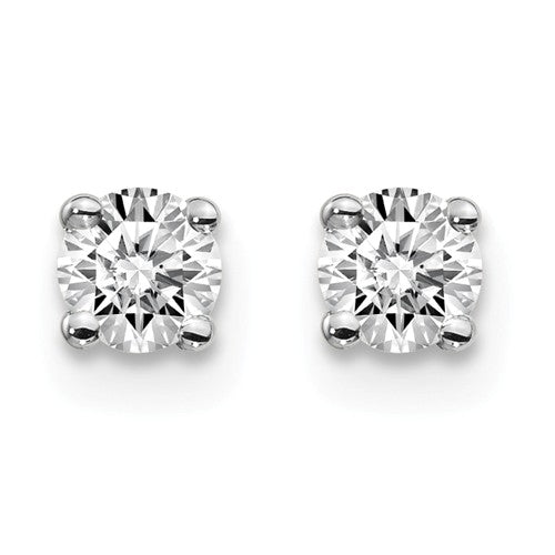 3.5mm 10K White Gold Moissanite Stud Earrings
