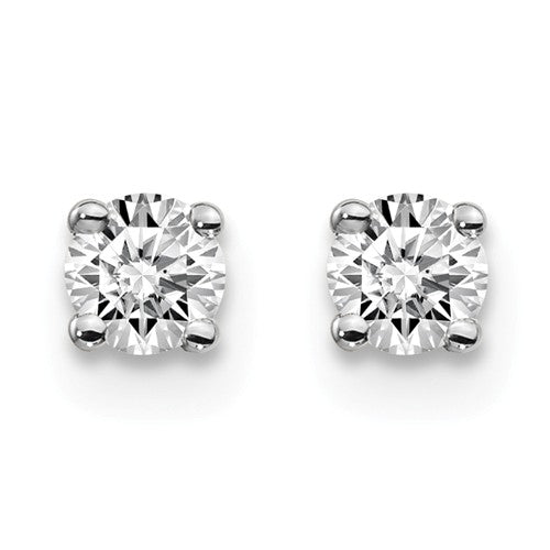 3mm 10K White Gold Moissanite Stud Earrings