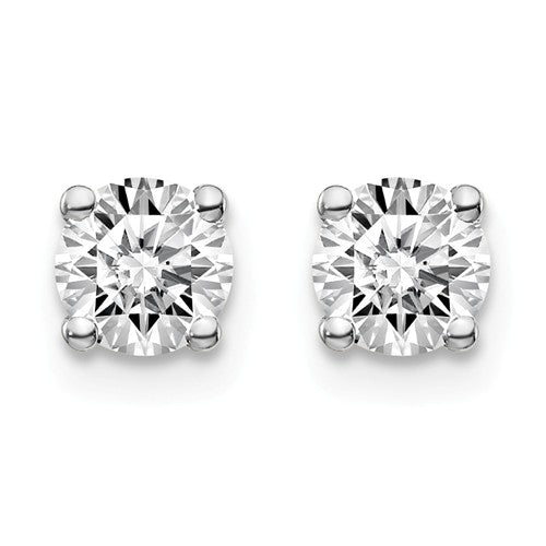 4.5mm 10K White Gold Moissanite Stud Earrings