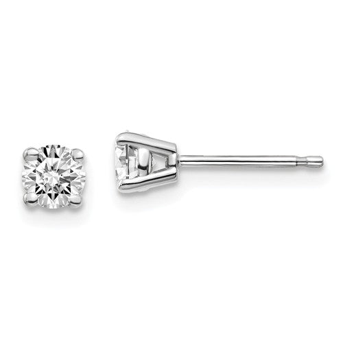 4mm 10K White Gold Moissanite Stud Earrings