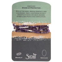 Scout Curated Wears Amethyst Stone of Protection Wrap