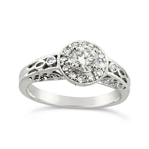 14kt .53ct White Gold Round Brillant Engagement Ring