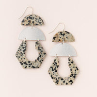 Scout Curated Wears Silver Dalmatian Jasper Stone Cutout Earrings