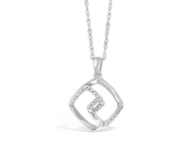 Sterling Silver .10ct Diamond Necklace
