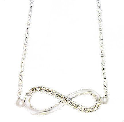Sterling Silver .10ct Diamond Infinity Necklace