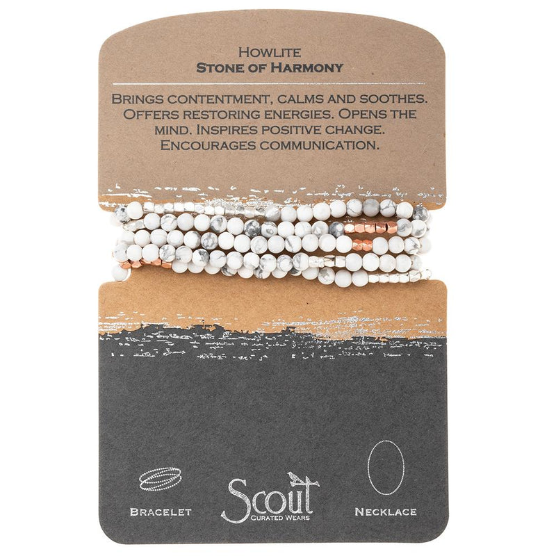 Scout Curated Wears Howlite Stone of Harmony Wrap