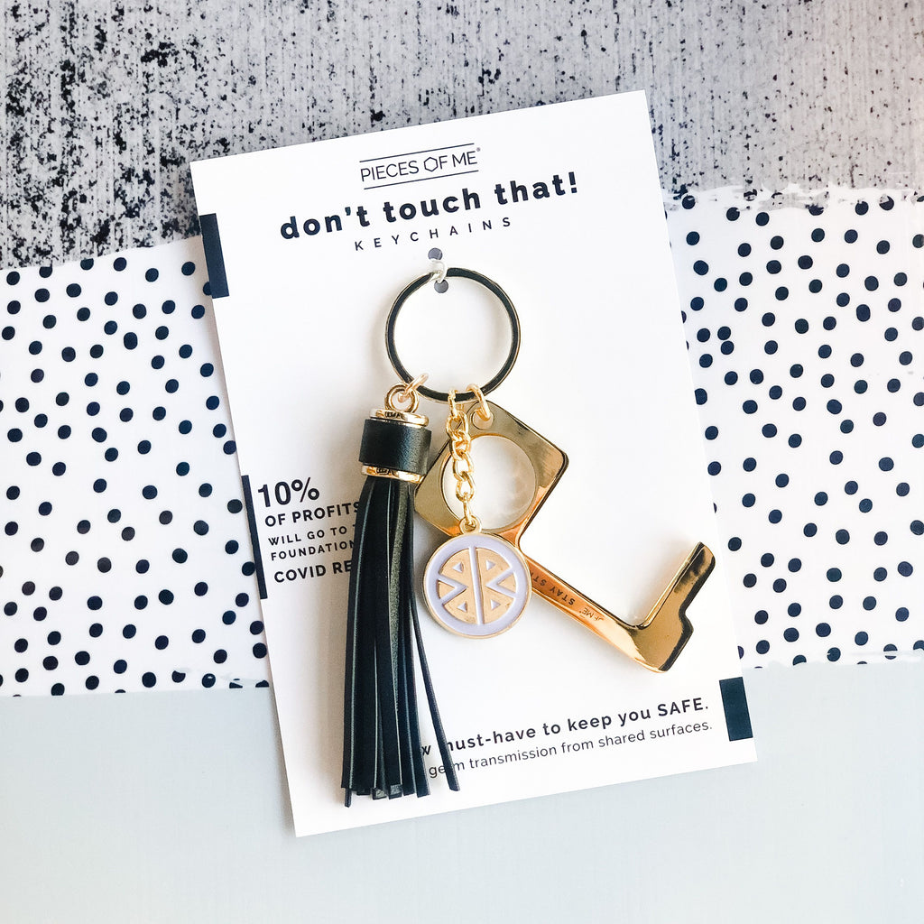Don't Touch That! Women's Black Keychain