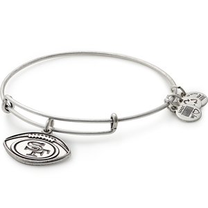 Silver SF 49ers Football Bangle