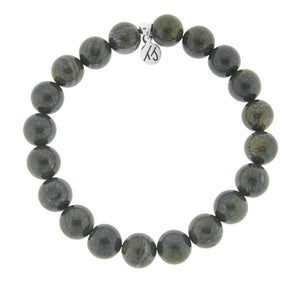 T. Jazelle Men's Bronzite Beaded Bracelet