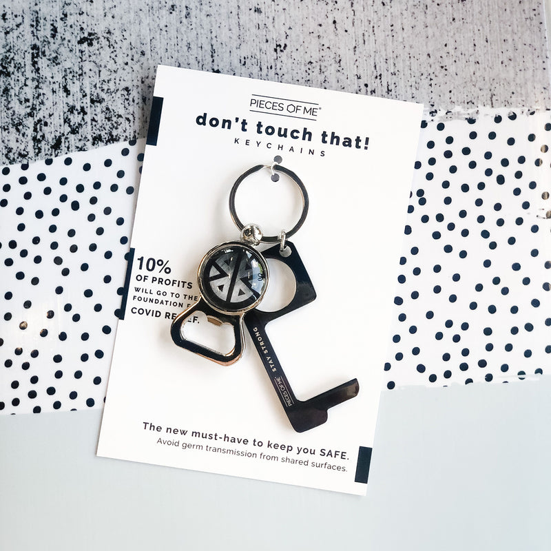 Don't Touch That! Men's Keychain