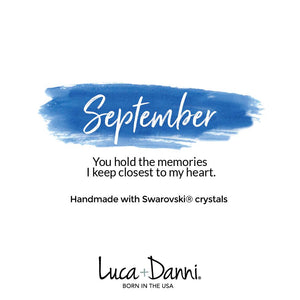 September Birthstone Silver Bangle Bracelet