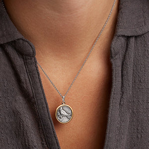 Luca and Danni Cardinal Silver Necklace