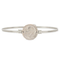 Luca and Danni Divine Dime Silver Bangle Bracelet