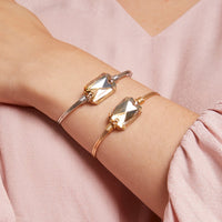 Dylan Champagne Brass Bangle Bracelet