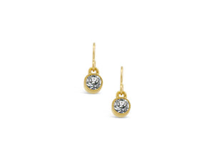 Gold Solo Crystal Earrings
