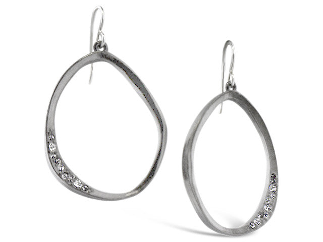Silver Moonshadow Crystal Earrings