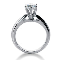 Nespoli Jewelers 14k White Gold Round Solitaire Engagement Ring 1280