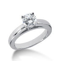Nespoli Jewelers 14k White Gold Round Solitaire Engagement 1754