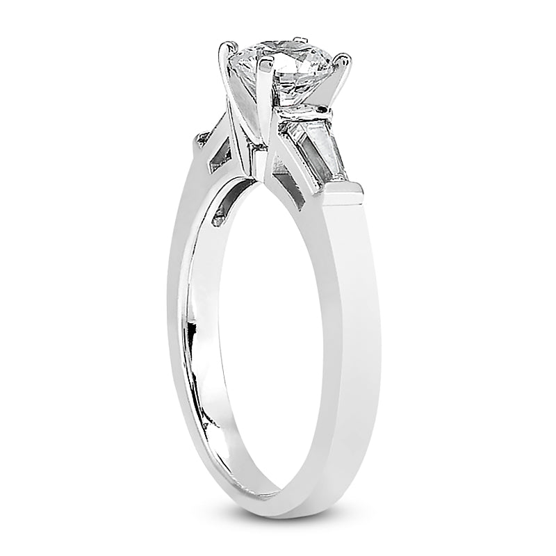 Nespoli Jewelers 14k White Gold Round Engagement Ring 102