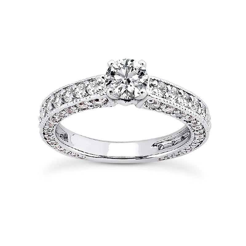 Nespoli Jewelers 14k White Gold Engagement Ring 1255