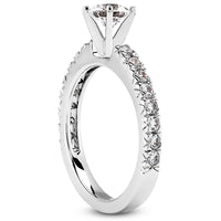Nespoli Jewelers 14k White Gold Round Engagement Ring 1307