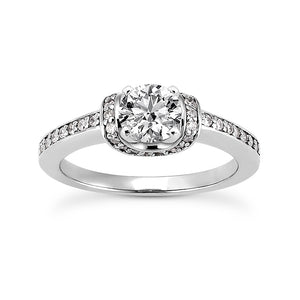 Nespoli Jewelers 14k White Gold Round Engagement Ring 1734