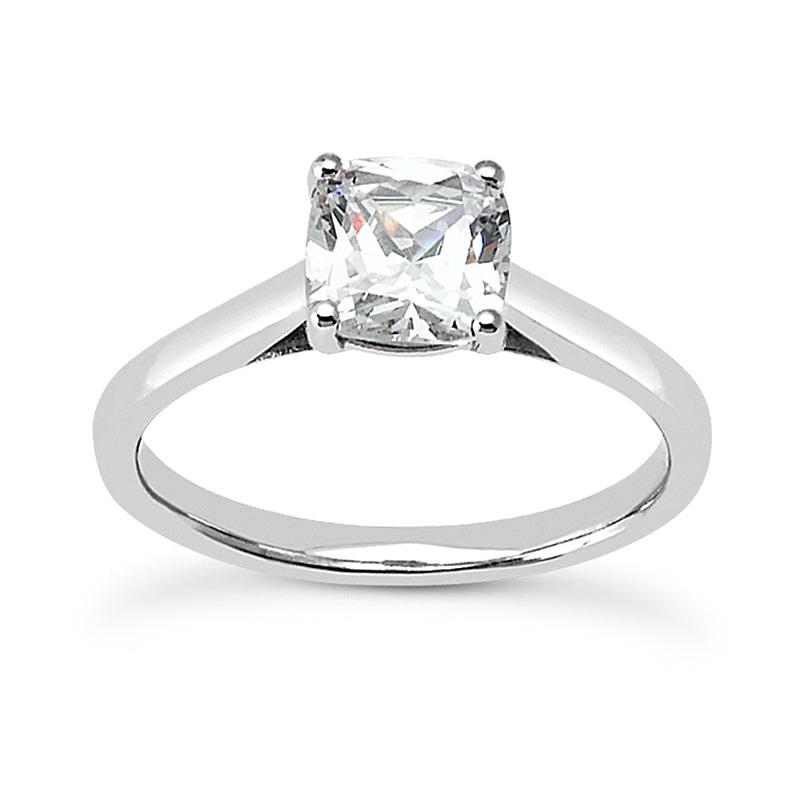 Cushion Solitaire Engagement Ring