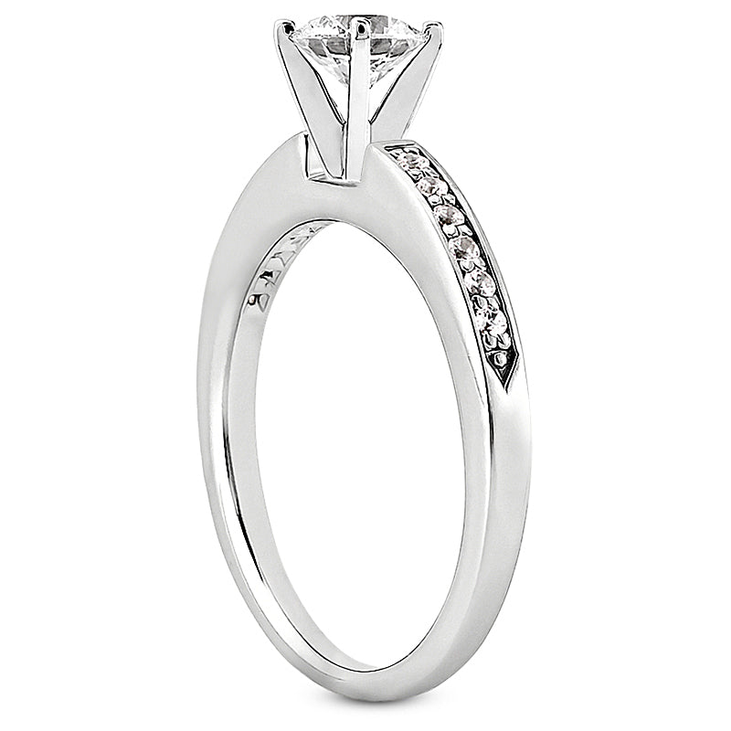 Nespoli Jewelers 14k White Gold Round Channel Engagement Ring 3001