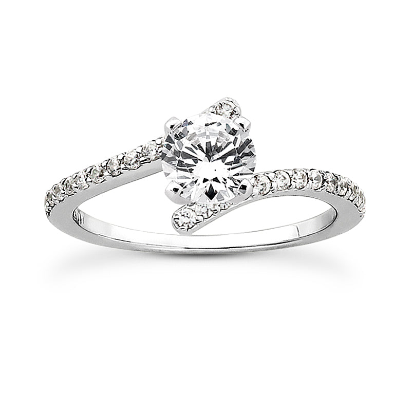 Nespoli Jewelers 14k White Gold Round Engagement Ring 3007