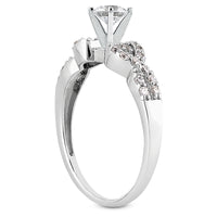 Nespoli Jewelers 14k White Gold Round Engagement Ring 3008