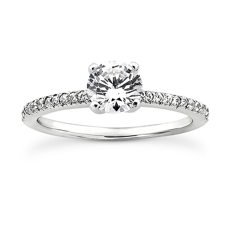 Nespoli Jewelers 14k White Gold Round Engagement Ring 3009