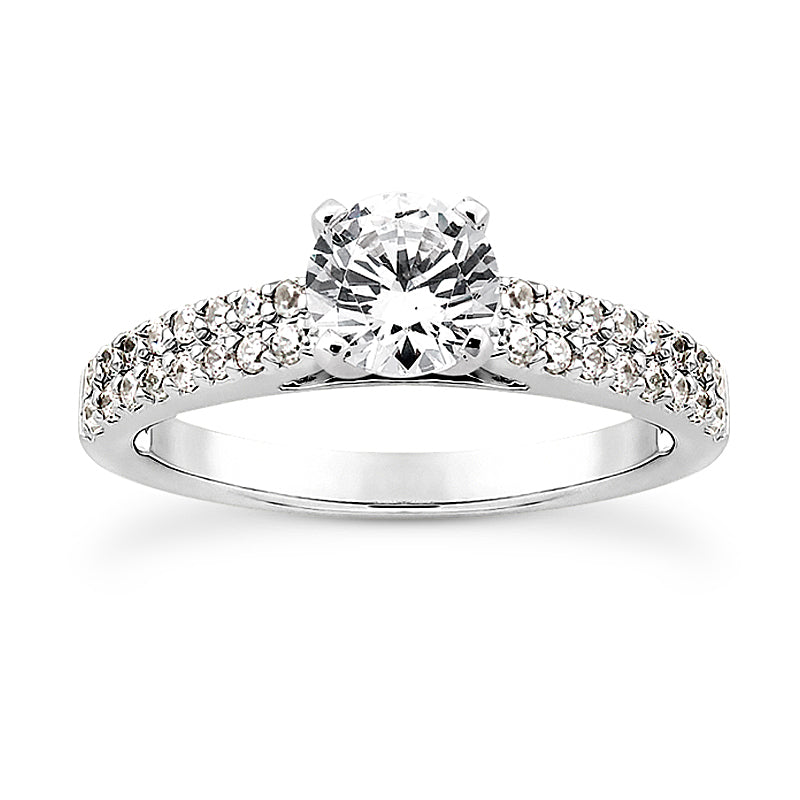Nespoli Jewelers 14k White Gold Round Engagement Ring 3010