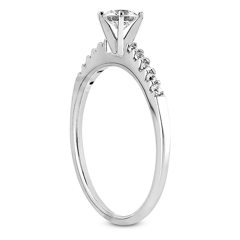 Nespoli Jewelers 14k White Gold Round Engagement Ring 3011