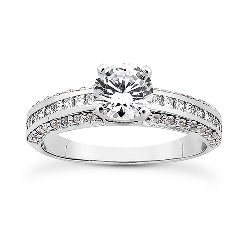 Nespoli Jewelers 14k White Gold Round Engagement Ring 3020