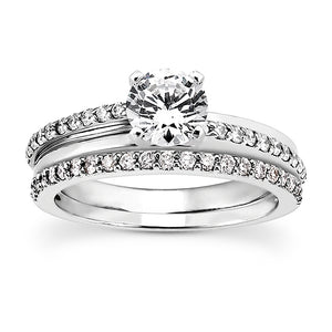 14K White gold Wedding Band 3080
