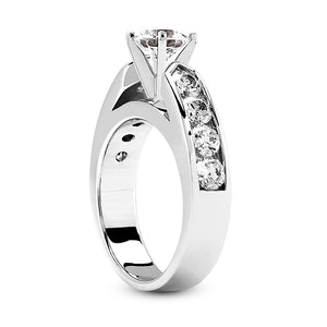 Nespoli Jewelers 14k White Gold Round Engagement Ring 1732