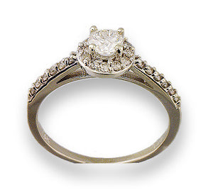 14kt White Gold Round Engagement Ring