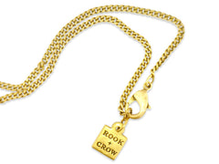 "18"" Gold Pablo Crystal Necklace"