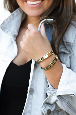 Gold Intelligent Cuff