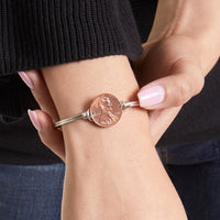 Heavenly Pennies Brass Bangle Bracelet