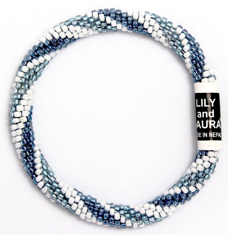 Lily and Laura Denim Jean Spiral Bracelet