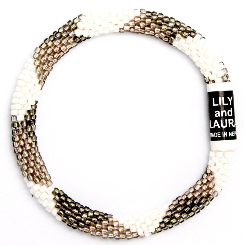 Lily and Laura Two Toned Taupe Bracelet