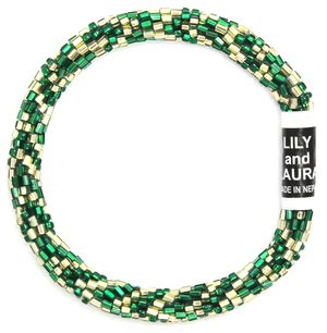 Cut Green and Gold Chevrons Bracelet