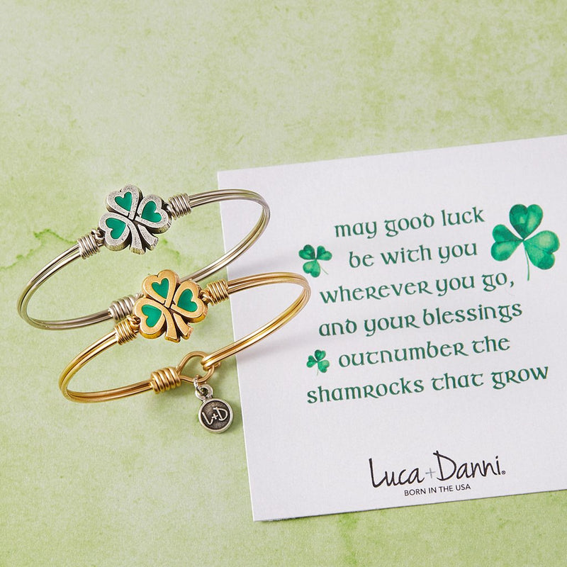 Luca and Danni Lucky Shamrock Bangle Bracelet